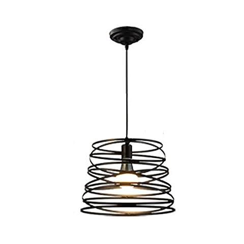Moderne Lumière Suspendue Simple Lustre Simple Black Metal Hanging Montage