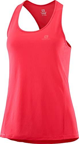 SALOMON Damen Agile W Sport-Tank Top, Pink (Hibiscus), L Hibiscus Tank