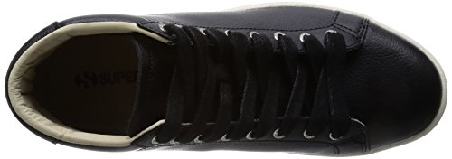 Superga 4531-bycu, Pompes à plateforme plate mixte adulte Noir/beige - Black