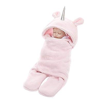 Athyior Saco de Dormir Bebés para 0-9 Meses Invierno – 2.5 TOG Suave Vellón Recién Nacidos abrigado Envolver Manta Universal Infantil Unicorio para Silla de Paseo