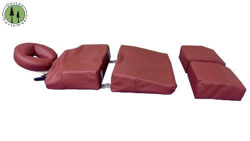 Pregnancy Pillow Maternity Cushion Bolster Set Burgundy w/ Carrying Case DevLon NorthWest by DevLon NorthWest