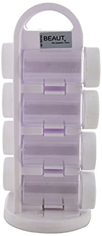 Beaut Plastic Revolving Spice Set, 2 Inch Dia, 8 Piece