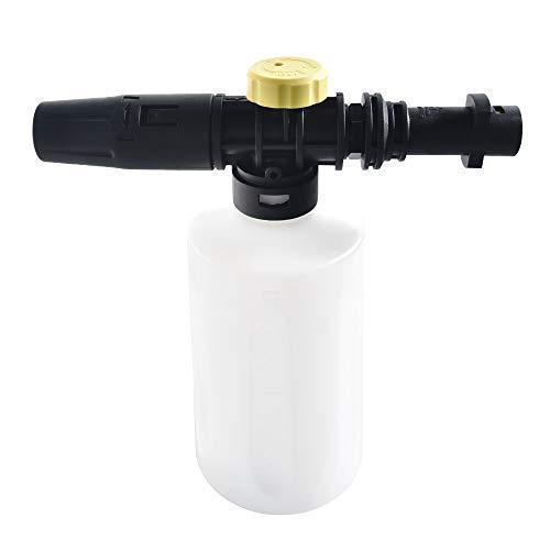 Generic Schneeschaum-Lanze für Kärcher K2 K3 K4 K5 K6 K7 Hochdruckschaumpistole Kanon alle Kunststoff Tragbare Schaumdüse Auto Waschanlage Seifensprüher