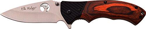 Elk Ridge Couteau de Poche Hunter Marron Manche Bois de G10, Longueur cm : 12,7 fermé, elkr de 1245