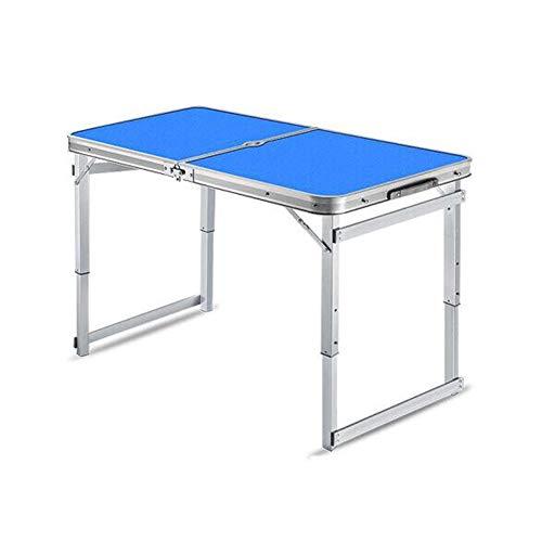 58f69eb40f180 CJC Table Selles Set, Ajustement Hauteur Pliant Camping Portable Jardin  Fête Pique-Nique BBQ