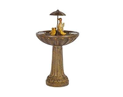 Smart Garden Solar Duck Family Umbrella Garden Water Feature Fountain Bird Bath by Smart Garden
