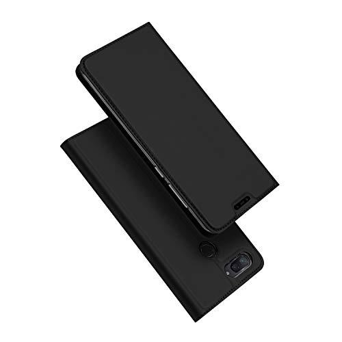 DUX DUCIS Hülle für Xiaomi Mi 8 Lite,Ultra Dünn Flip Folio Handyhülle mit [Magnet,Standfunktion,1 Kartenfach] (Skin Pro Series) (Schwarz)