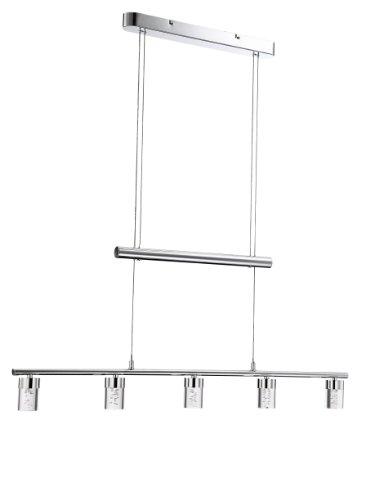 WOFI Pendelleuchte, 5-flammig, Serie: Maar, 5x LED / 5 W, Tiefe: 96 cm/Abhängung: 150 cm, 3000K, L