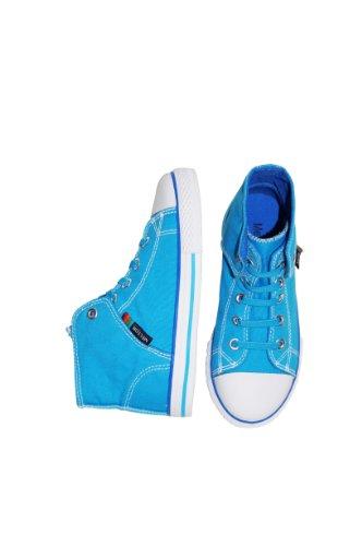 Melton Leggings Girl Mini Dot grau Aqua Blue