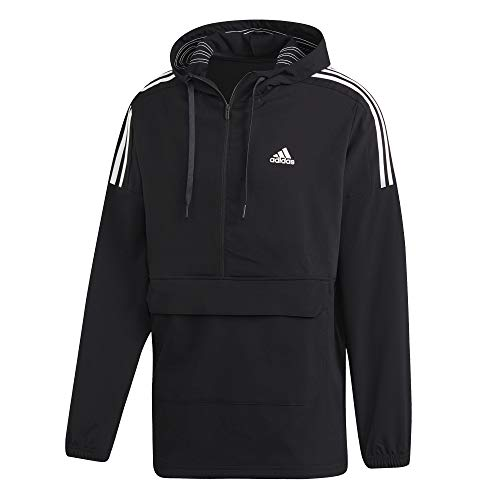 adidas Sport ID Anorak 1/2 Zip Woven Jacket, Herren XL Schwarz/Weiß -