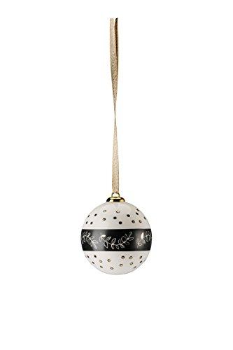 Hutschenreuther Merry Christmas Shiny Gold Petit Boule Porcelaine Neige/Ø 6 cm, Porcelaine, 7 x 7 x 9 cm