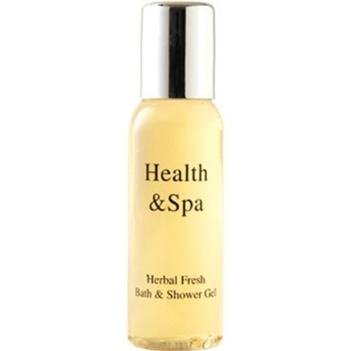 Health & Spa Range Herbal Fresh Bath and Shower Gel Cleanser Beauty Health Personal Care Bath Body Bathroom Home Hotel Guest House Capacity: 35ml. Pack of 50