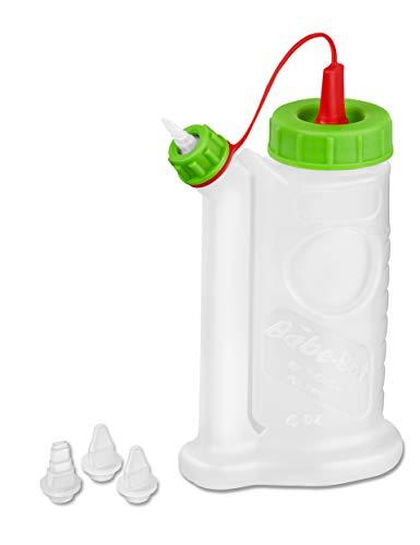 Pinava Leimspender - Original BabeBot (ca. 120ml) von FastCap [NEU] Pinava Edition 6er Set - Leimflasche leer - Sparbehälter für Holzleim, Klebstoffe - Quetschflasche - Kleberflasche inkl. 4 Spitzen