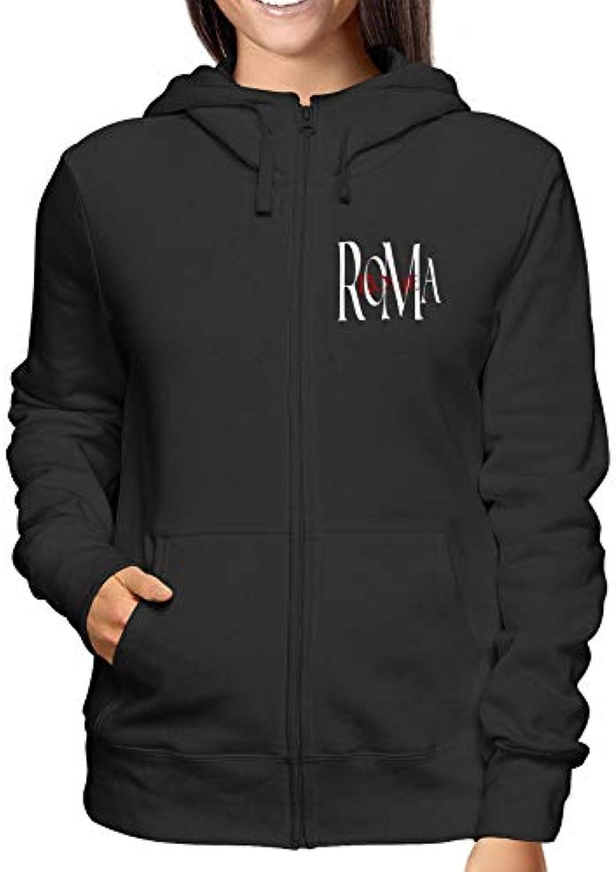 T-Shirtshock Felpa Felpa T-Shirtshock Cappuccio e Zip Donna Nero TSTEM0198  Roma Rome 694a7db0fbcf