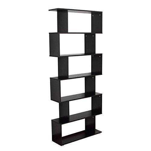 Homcom libreria di design in legno 80x24x191cm nero
