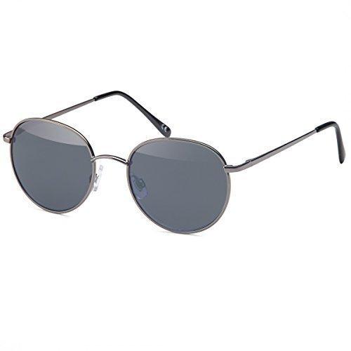 Damen Herren Sonnenbrille Elegeante New Wayfarer Aviator Fliegerbrille 202555, Rahmenfarbe:Schwarz