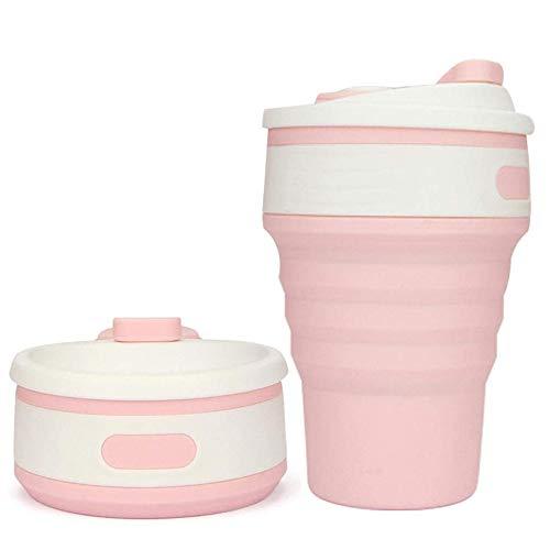 LIWEIL Faltbare Kaffeetassen Lebensmittelqualität Silikon 350ML Teetasse Tragbare Reisezubehör Faltbare Wasserflasche