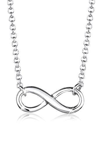 Elli Halskette Elli Damen Halskette mit Infinity Symbol Unendlichkeit in 925 Sterling Silber 38 cm lang