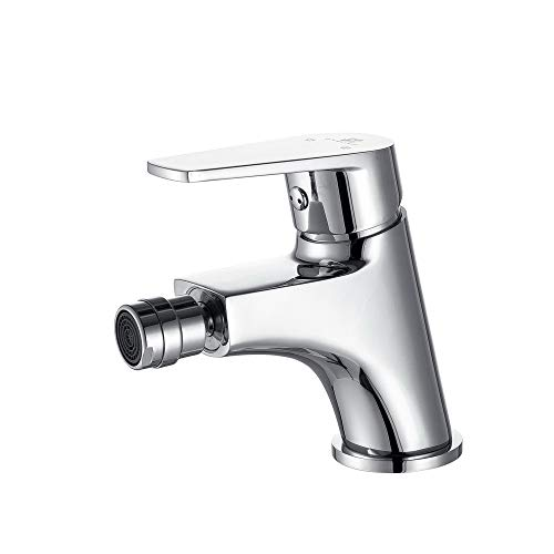 Homelody Badarmatur - Bidetarmatur Einhebel-Bidetmischer Bidetbatterie Wasserhahn für Bidet, Chrom Armatur