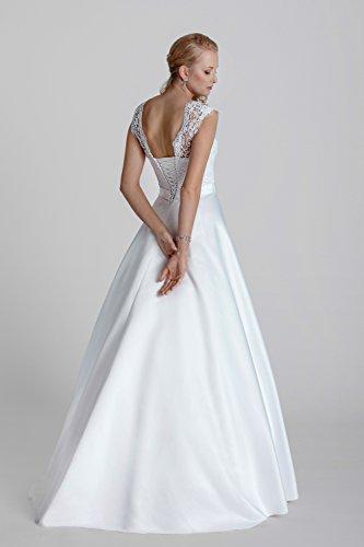 Brautkleid Vintage // Hochzeitskleid mit Spitze (ivory/creme) - 2