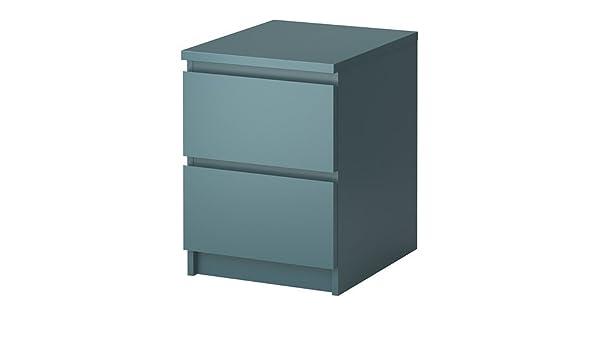Ikea Malm Kommode Mit 2 Schubladen Grau Turkis 40x55 Cm Amazon