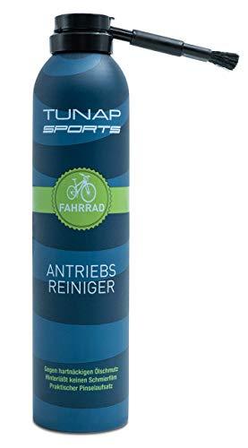 TUNAP SPORTS Antriebsreiniger, 300 ml | Perfekte Reinigung von Kette und Ritzel am Elektrorad Pinselbürste gegen Fingerverschmieren