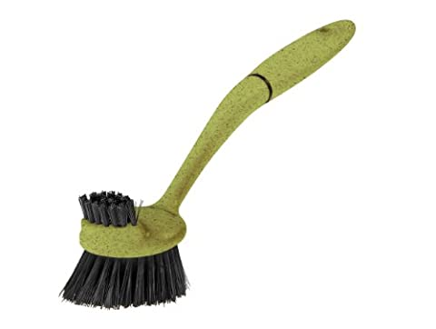 Greener Cleaner Recycled Plastic and Wood Pulp Dish Brush, Green