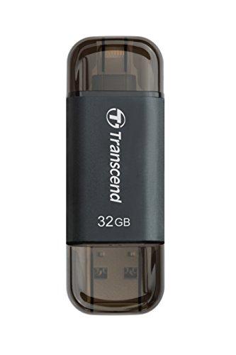 Transcend TS32GJDG300K JetDrive Go 300 32 GB Lightning/USB 3.1 Gen 1 Pennetta per iOS