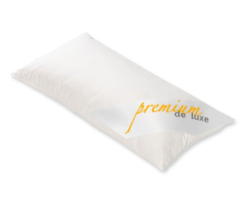 HANSKRUCHEN 975.22.001 Premium de Luxe Daunenkissen Dreikammerkissen 40x80cm