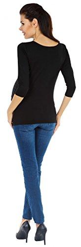 Zeta Ville Maternité - Tee shirt de grossesse motif humour imprimé - femme 122c Noir
