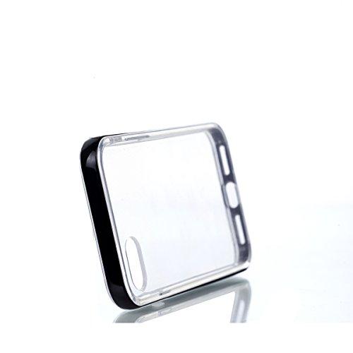 Custodia iphone 7 ,Cover iphone 7 , Serie Cozy Hut ® New Glamour [TPU Flessibile] Custodia posteriore morbida Cristallo Trasparente Ultra Sottile Anti Slip Case Copertura Protezione antiurto per iphon nero