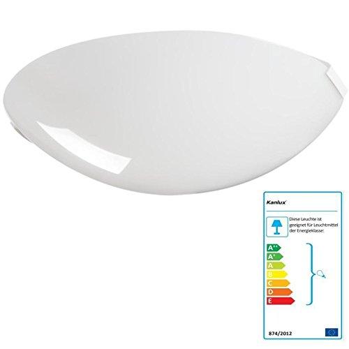 LED-Deckenleuchte-Deckenlampe-Wandleuchte-Badezimmer-Kellerleuchte (Deckenleuchte mit Leuchtmittel 6,5W warmweiss) (Globe Deckenleuchte)