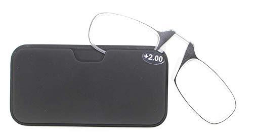 Lupenbrille, Silikon-Nasenpolster, Lesebrille, Kartentyp, Nasenbrille, SOS Clip Nasenbrille,...