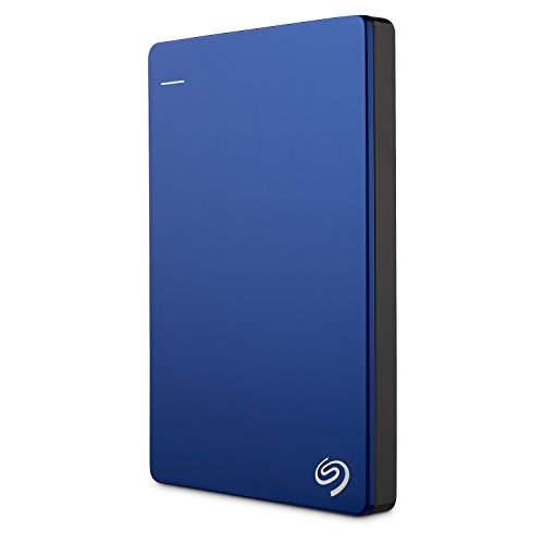 Seagate Backup Plus Slim 1TB Portable External Hard Drive with 200GB of Cloud Storage & Mobile Device Backup (Blue)