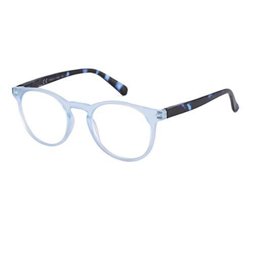Huicai Männer und Frauen Lesebrille Kunststoff Brillengestell runde Brille Brille Presbyopie Brille