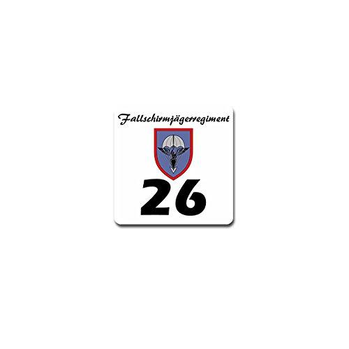Sticker/Sticker-fschjgrgt 26Reggimento Paracadutisti dell' esercito tedesco BW kompanie Germania due ponti militare stemma distintivo Emblem 7x 7cm # A4234