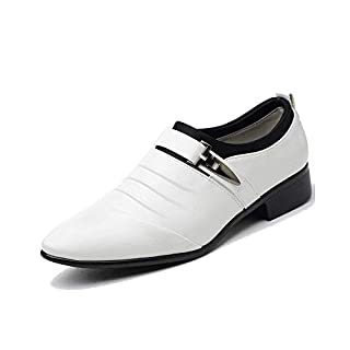 Anzugschuhe Herren Slipper Anzug Schuhe Derby Oxford Lederschuhe Business Hochzeit Männer Leder Winter Herrenschuhe Weiß Hellbraun Schwarz 38-48 WH42
