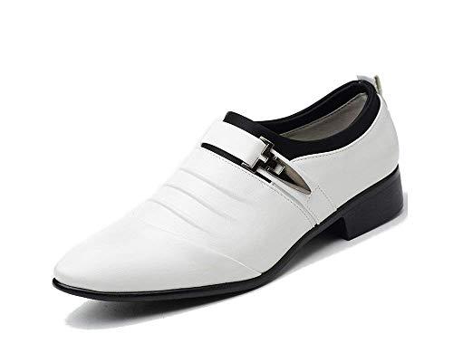 Anzugschuhe Herren Slipper Anzug Schuhe Derby Oxford Lederschuhe Business Hochzeit Männer Leder Winter Herrenschuhe Weiß Hellbraun Schwarz 38-48 WH48