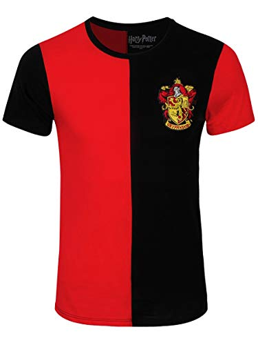 Harry Potter Herren T-Shirt Gryffindor Tournament Baumwolle rot schwarz - M