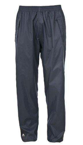 Trespass Qikpac Pant, Flint, XL, Kompakt Zusammenrollbare Wasserdichte Regenhose mit 3 Taschenöffnungen für Damen und Herren / Unisex, X-Large, Grau