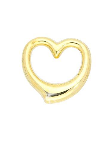 MyGold Herz Anhänger (Ohne Kette) Gelbgold 750 Gold (18 Karat) 13mm x 12mm Glanz Swingherz Herzkette Halskette Kettenanhänger Goldkette Geschenk Für Frauen Weihnachtsgeschenk Verity A-03921-G501