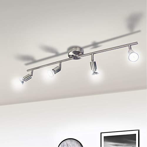 Lampadario camera letto moderno wowatt lampada faretti da soffitto led plafoniera bagno lampadario cucina faretti orientabili lampada da salotto 4 luci gu10 bianca fredda 6w 600lm ra83 ip20