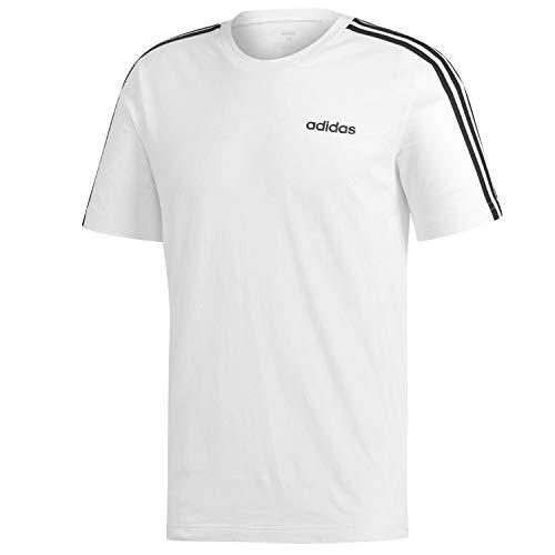 Adidas essentials 3 stripes t-shirt, t-shirts uomo, white/black, xl