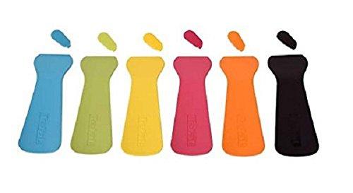 Tefal XA900203, Juego de 6 Espátulas Termoplásticas, Multicolor