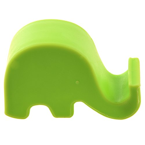 ACAMPTAR Sostenedor de Elefante para telefono Celular Soporte MP3 para 5/4S/ Verde