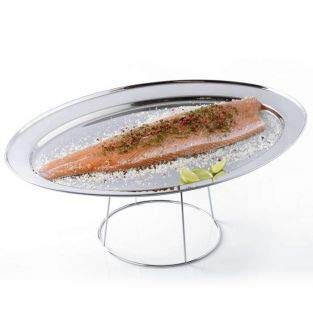 Plateau de fruits de mer Ø 36 cm et son support inox