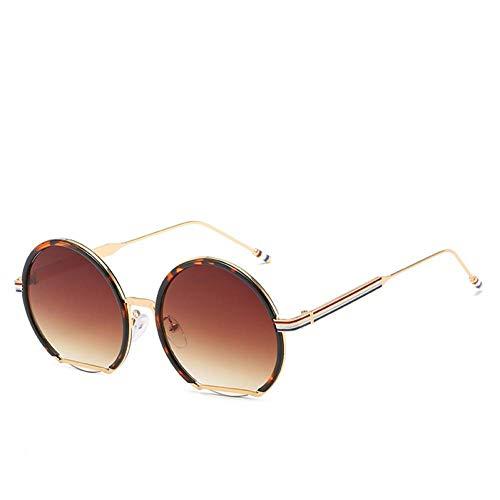 CHJKMN Damen Retro Round Sonnenbrille Alloy Rot Weiß Blau Sonnenbrille Herren Retro Tone Luxury Sonnenbrille UV400