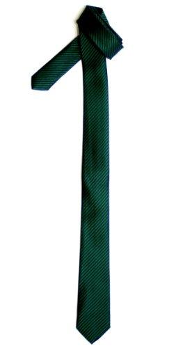 Corbata estrecha Verde oscuro