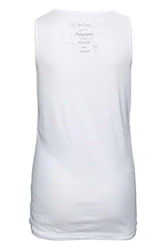 Frogbox Damen Shirt, Cooles Top, Farbe: Gelb, MIA Weiß