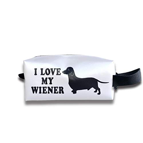 e9246d764986 I Love My Wiener Dog Funny Women Cosmetic Bag Travel Girls Oxford Toiletry  Bags Fashion Portable Hanging Organizer Makeup Pouch Pencil Case